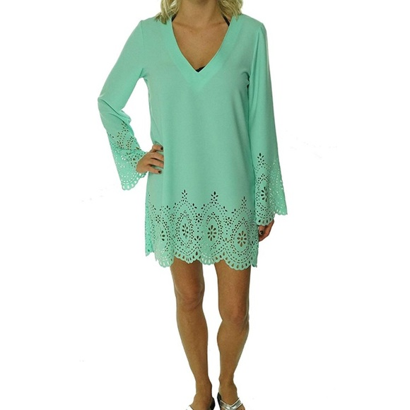 Kenneth Cole Reaction Other - NWOT Kenneth Cole Reaction Laser-Cut Tunic CoverUp